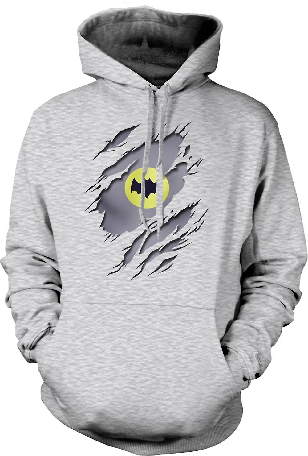 Mens-Hoodie - Batman unter Shirt Effekt - Film Superhero