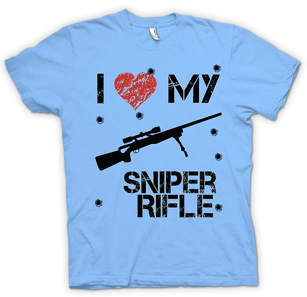Hommes T-shirt - I Love My Sniper Rifle