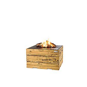 Happy Cocooning Driftwood tuinhaard vierkant 76x76xH46 cm - zwart