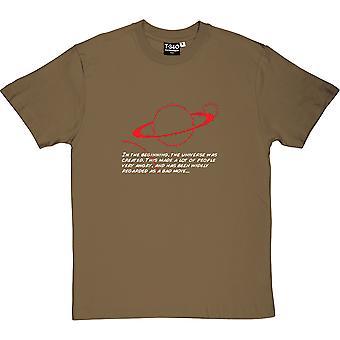 Autostopowiczów przewodnik w początku Men's T-Shirt