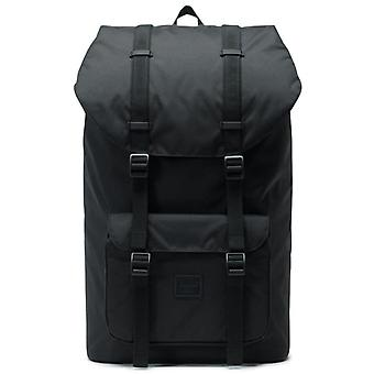 Herschel Black Little America Light - 25 Litre Laptop Backpack