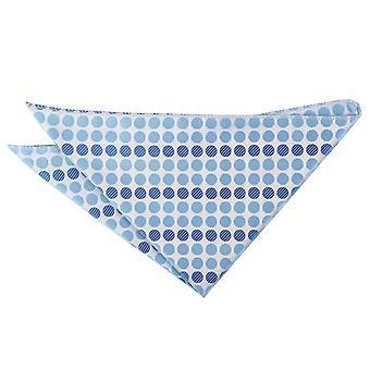 Azure Blue Pastel Polka Dot Pocket Square