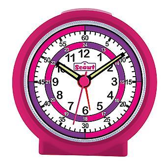 Scout girls alarm clock alarm LearnTheTime pink 280001015
