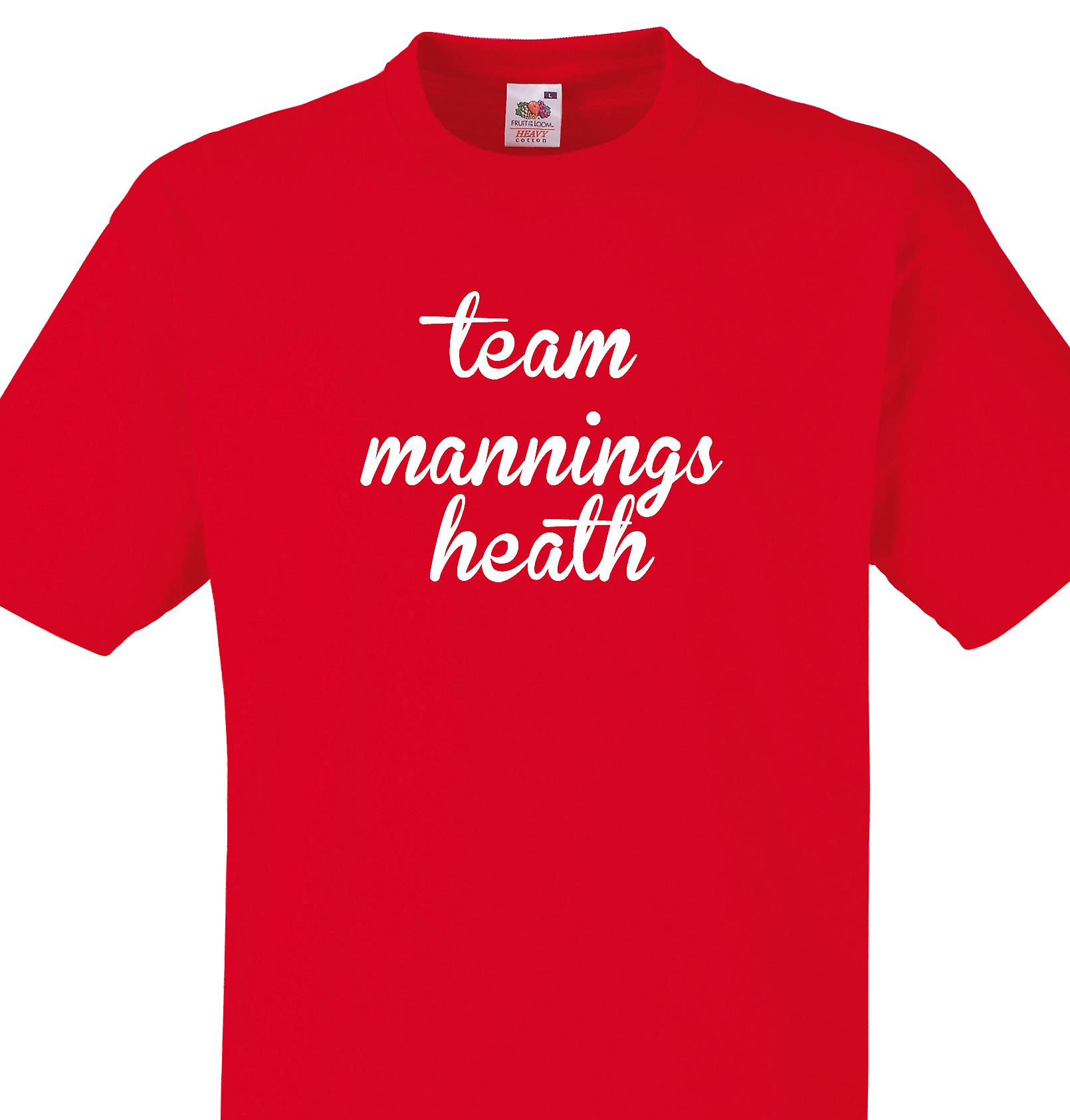 Team Mannings heath Red T shirt