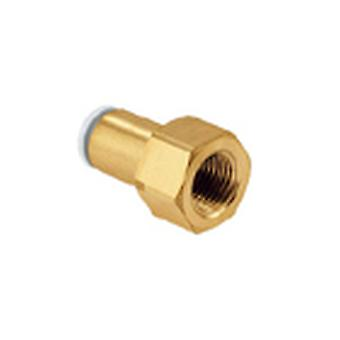 SMC Pneumatic Straight Threaded-To-Tube Adapter, Rc 1/4 Female, Push In 6 Mm