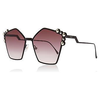 Fendi FF0261/S 0T7 Plum FF0261/S Square Sunglasses Lens Category 2 Size 57mm