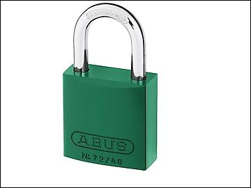 ABUS 72/40 40mm Aluminium Padlock Green Keyed TT00590