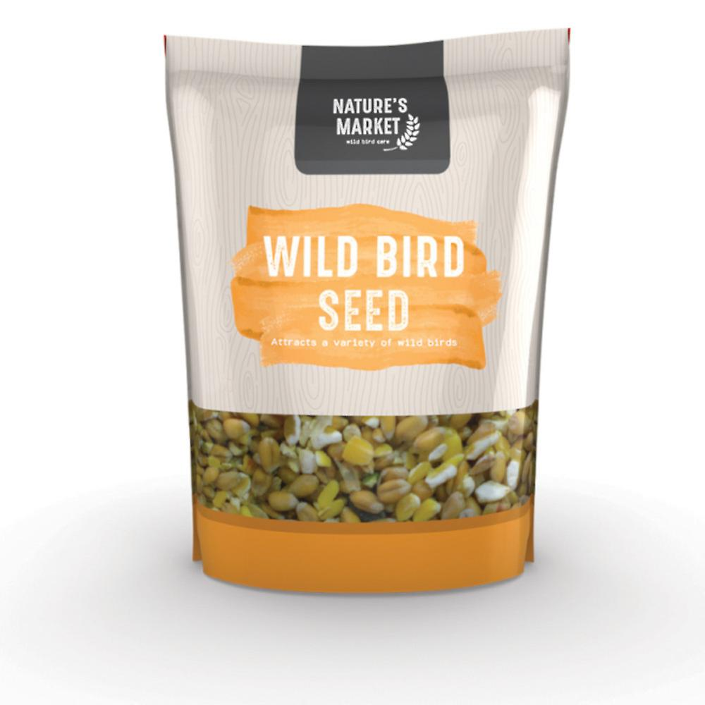 Natures Market 1kg (2.2 lbs) Bag of Blended Seed Mix Feed Wild Bird Food