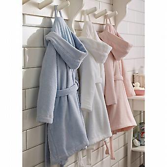 Children's Zero-Twist Pure Cotton Bathrobe with Hood