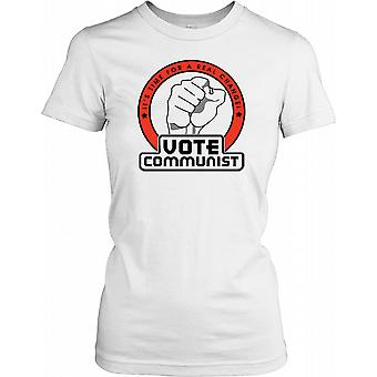 Vote Communist - Time For A Real Change Ladies T Shirt