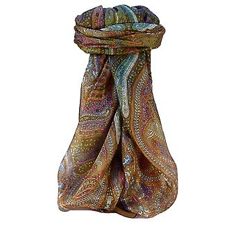 桑絹の伝統的な正方形スカーフ パシュミナ ・ シルク Vayvia コーヒー