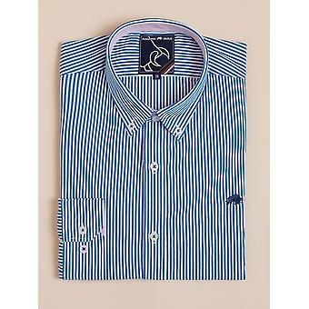 Long Sleeve Candy Stripe Shirt - Cobalt