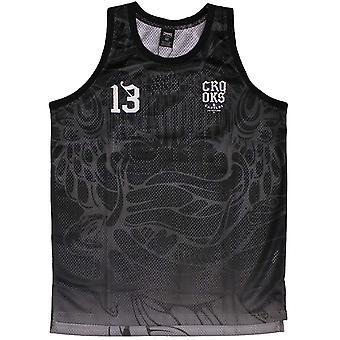 Ladrones y castillos Trece baloncesto camiseta Tank Top negro