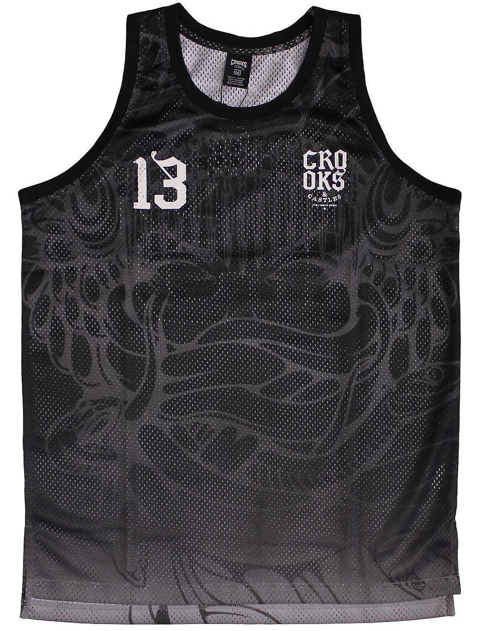 Crooks & Castles Trece Baseball Jersey Tank Top Black