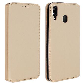 Slim Case, Classic Edition stand case with card slot for Samsung Galaxy M20 Gold