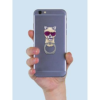 Grindstore Funky Llama Phone Ring & Stand