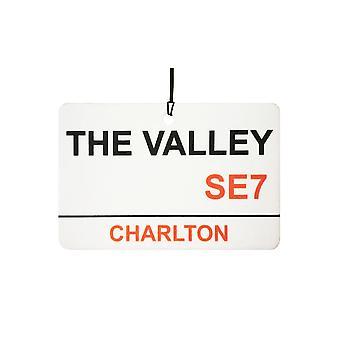 Charlton / The Valley Street Sign Car Air Freshener