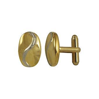 Collezione Eterna Signor Due Toni Oro e Argento Cufflinks Oval