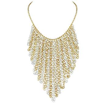 Eternal Collection Catena Gold And Silver Tone Chain Fashion Necklace