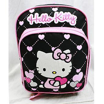 Mini Backpack - Hello Kitty - Glitter Heart Black School Bag 10