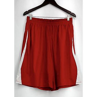 Holloway plus Shorts (XXL) prestaties Gym stijl w/zakken rode Womens