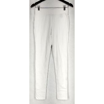 Kate & Mallory Leggings Basic Slimming Options Stretch Waist White A431583