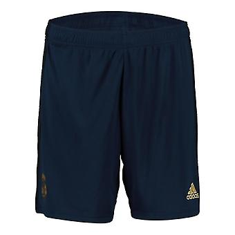 2019-2020 Real Madrid Adidas Away Shorts (Navy) - Kids