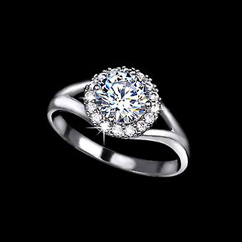 Rhodium Plated 1.25 Carat Swiss Cubic Zircoina Ring