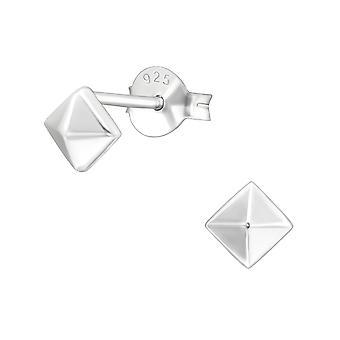 Pyramide - 925 Sterling Silver ren øredobber - W17400X