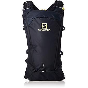 Salomon L40412700 - Light Running Backpack 6 l Agile 6 Adult Unisex Set - Dark Blue/Yellow (Night Sky/Sulphur Spring)