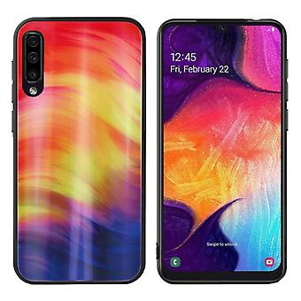 Cubierta trasera Aurora Glass para Samsung A50 Púrpura