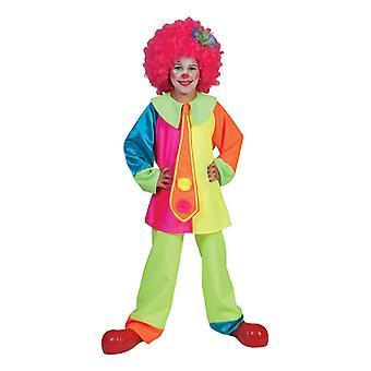 Costumes de clown d'enfants de couleur néon Silly Billy Boy enfants de cirque costume carnaval garçons