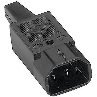 IEC connector C14 ATT.LOV.SERIES_POWERCONNECTORS 42R Plug, straight Total number of pins: 2 + PE 10 A Black K & B 42R041