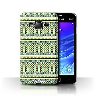STUFF4 Case/Cover for Samsung Z1/Z130/Green/Aztec Tribal Pattern