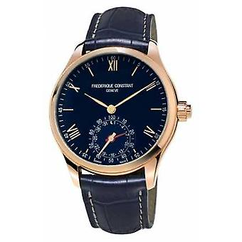 Frederique Constant Horological Smartwatch Blue Rose Gold Bluetooth FC-285N5B4 Watch
