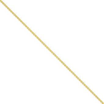 14k solido oro giallo lucido aragosta collana catena piatta a mano leggera di artiglio chiusura 2mm - Lunghezza: 16-24