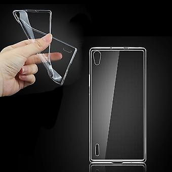 Silicone transparente housse Huawei Ascend P7
