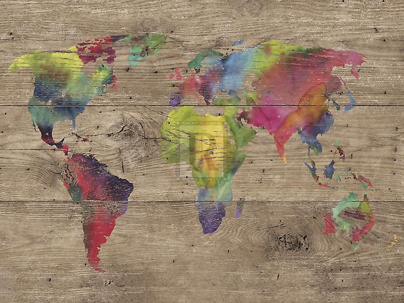 World of Colours - Vintage Poster Print by Sandra Jacobs (40 x 30)