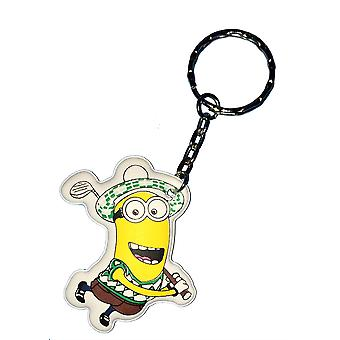 Despicable Me Puffy Key Chain | Minion Keyring | GOLFING MINION