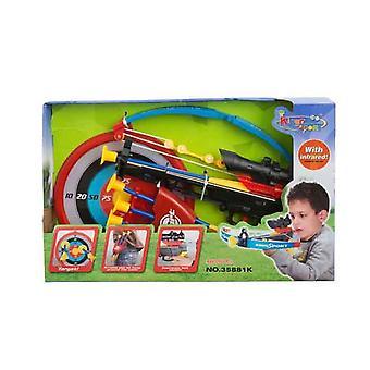 Niños regalo juguete Cruz arco tiro con arco Set con Infra rojo alcance de objetivo preciso