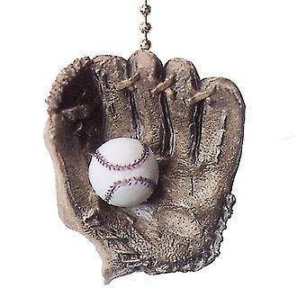 Serie mundial beisbol guante pelota ventilador de techo y luz tire