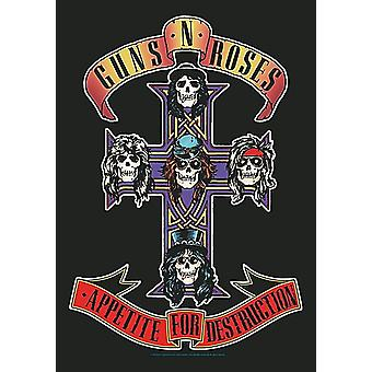 Affiche de Guns N Roses Appetite For Destruction grand fabric / drapeau 1100 x 750 mm (h)