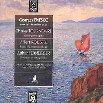 Enesco/Tournemire/Roussel/Honegger - Enescu; Tournemire; Roussel... Sonater for Violin & Piano [CD] USA import