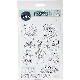 Sizzix Coloring Stickers By Katelyn Lizardi-Enjoy Every Day 662013