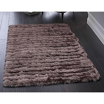 Carved Glamour Purple  Rectangle Rugs Plain/Nearly Plain Rugs