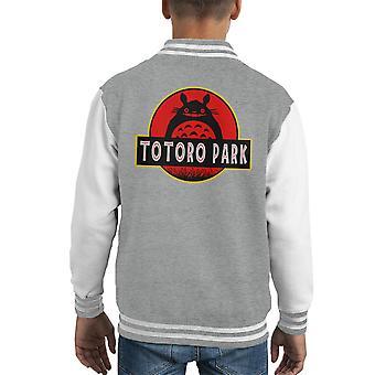 Totoro Park Studio Ghibli Jurassic Park Kid's Varsity Jacket
