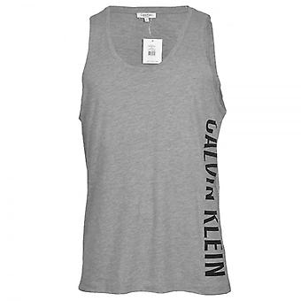 Calvin Klein Intense Power Swimwear Tank Top, Grey, X Large