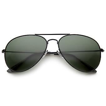 Classic Brow Bar Full Metal ramme grønne linsen Aviator solbriller 60mm