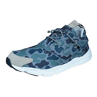 Reebok Furylite Camo Mens Trainers / Shoes - Green and Black