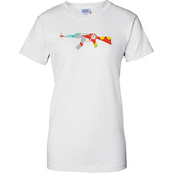 AK47 Blumenmuster - Peace - Damen T Shirt